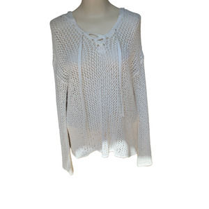 American Eagle Outfitters Knit Crochet Sweater